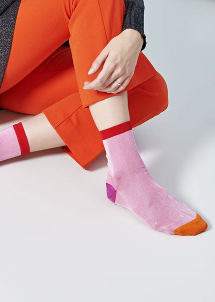 Grace Ankle Socks Pink/Orange/Red