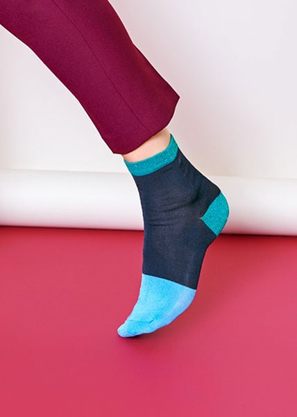 Liza Ankle Socks Navy Blue