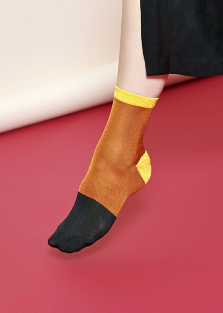 Liza Ankle Socks Orange/Yellow