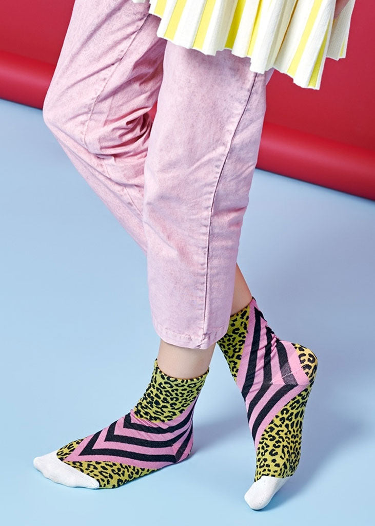 Samanta Ankle Socks Pink Yellow