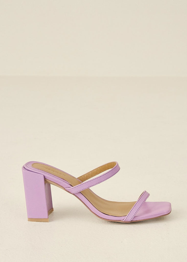 Square Heel Shoes Lilac
