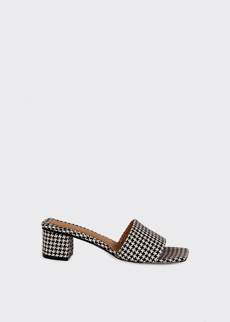 Meadow Houndstooth Slide Black