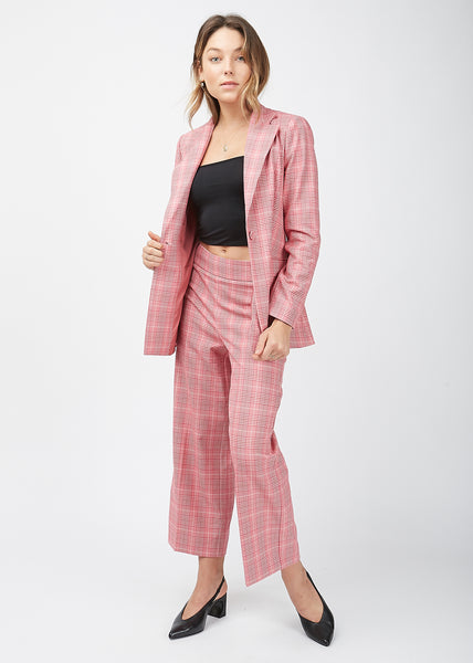 Maxime Blazer Rose Check