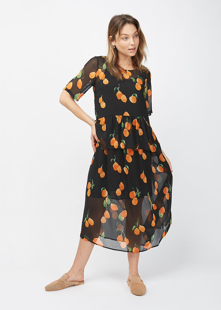 Hilda Maxi Dress Oranges AOP