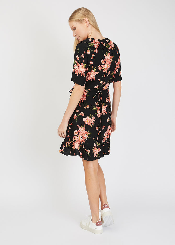 Oline Wrap Dress Cole AOP