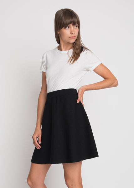 Alma Knit Skirt Black