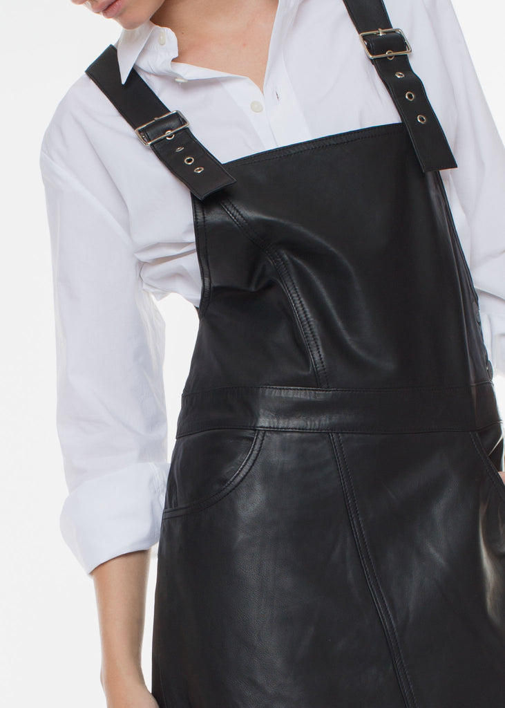 Coba Leather Dress Black