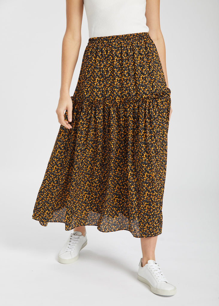 Fiji Maxi Skirt Little Flower Print
