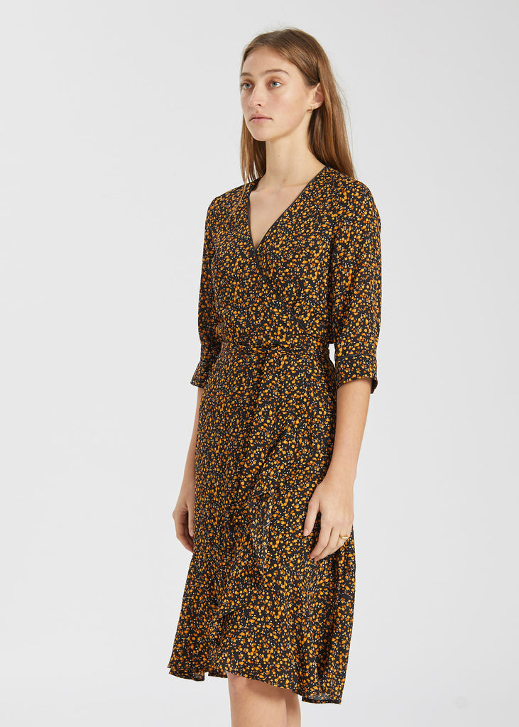 Fiji Wrap Dress Little Flower Print
