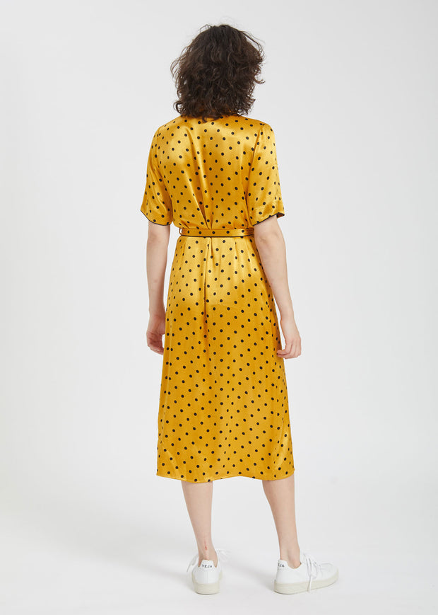 Ruby Wrap Dress Sunflower Dot