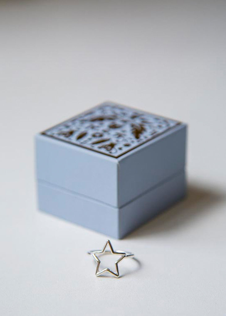 Star Outline Ring Silver