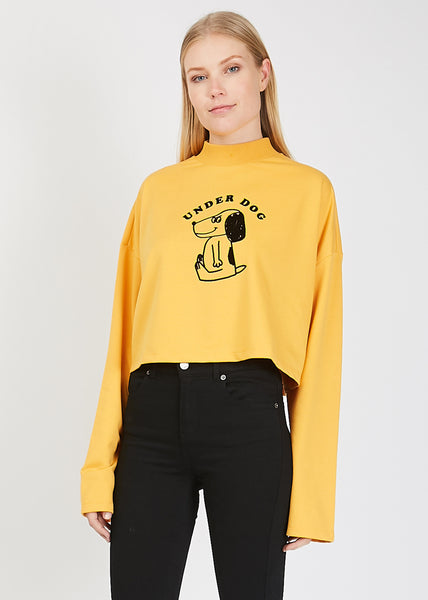 Underdog Long Sleeve Top Yellow
