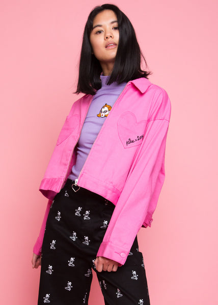 Kita Cropped Jacket Pink