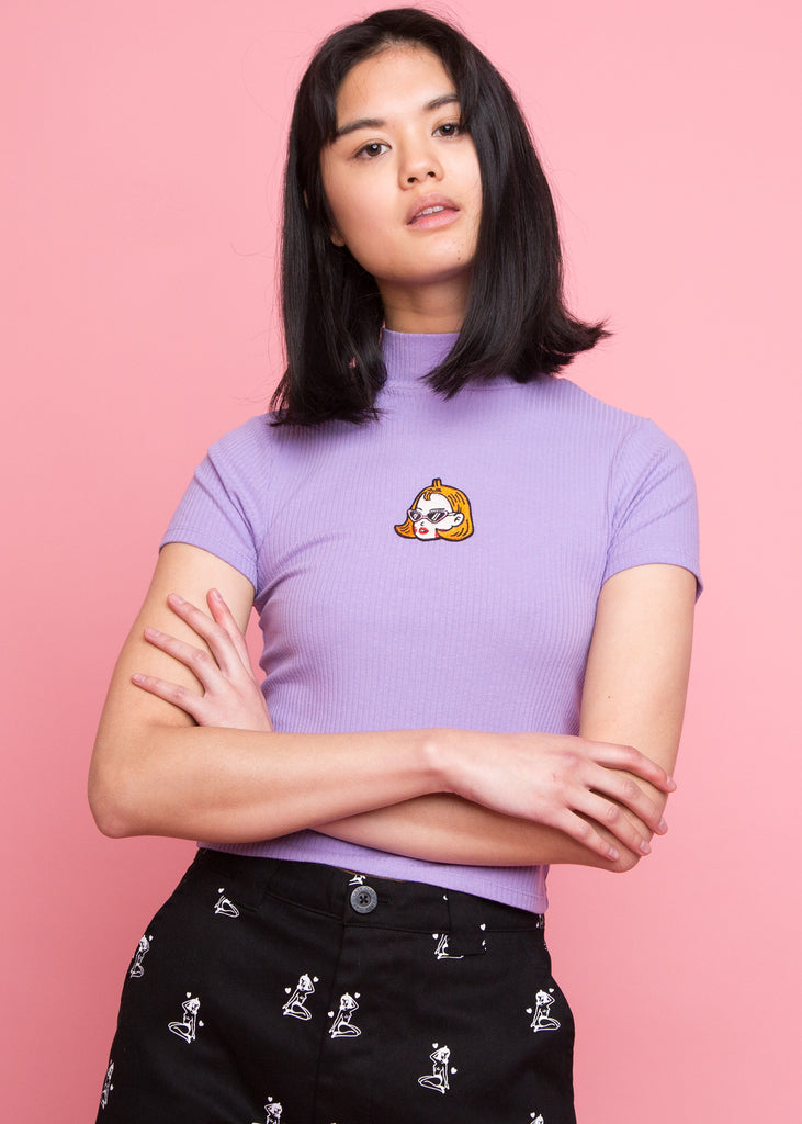Kita Short Sleeve Top Purple