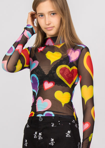 Party Heart Top Black