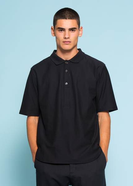 Bulge Polo Tee Black