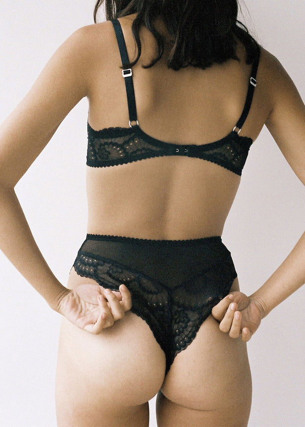 Delilah High Waist Brief Black