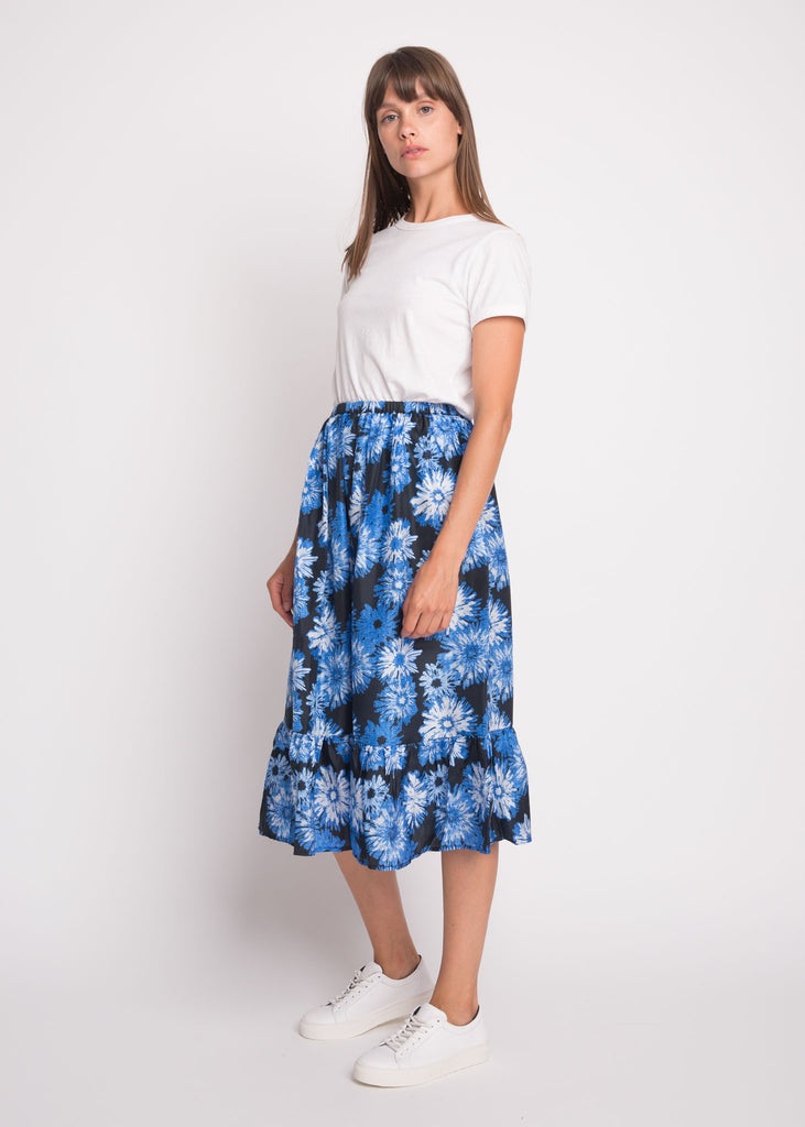 Lino Skirt Black