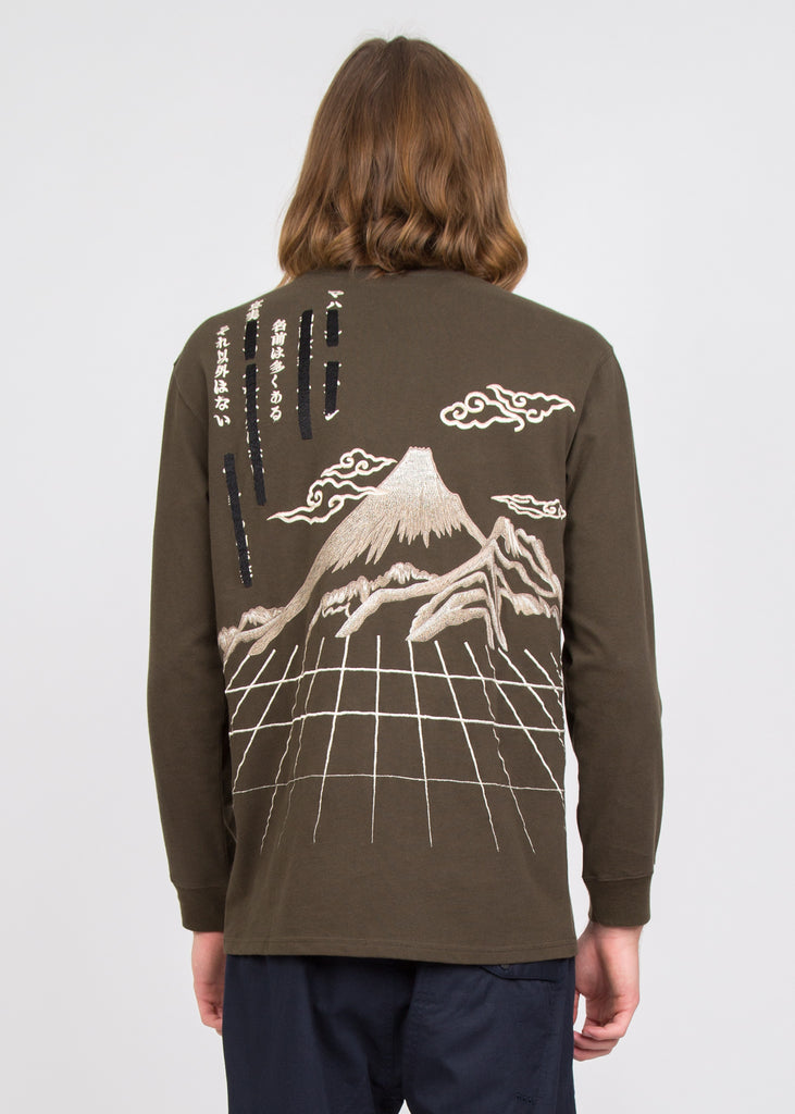 Maha Mountain Long Sleeve T-Shirt Mil Olive