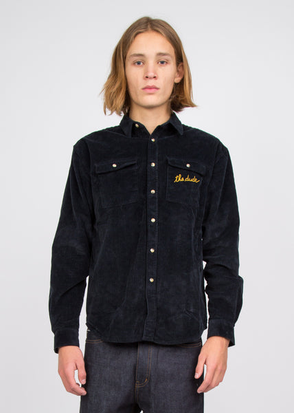 The Dude Trucker Shirt Blue Corduroy