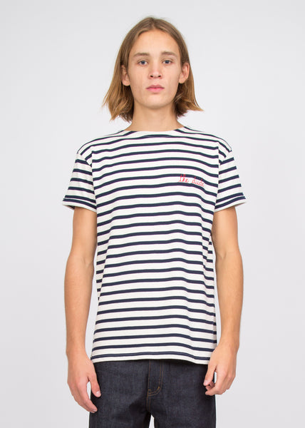 The Dude Sailor Shirt Off White/Dark Blue