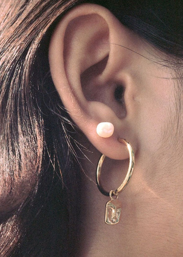 Baroque Helix Studs Gold