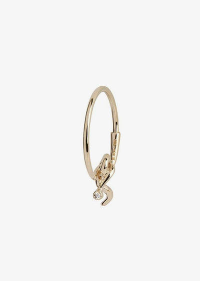 Fall Diamond Hoops 14 Karat Yellow Gold