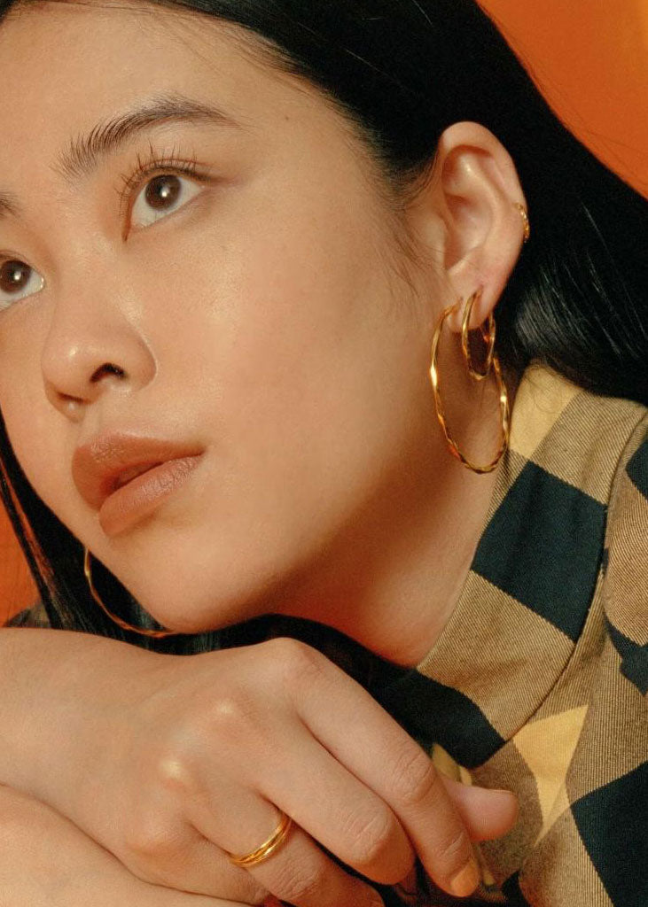 Francisca Hoop Large Earrings Gold