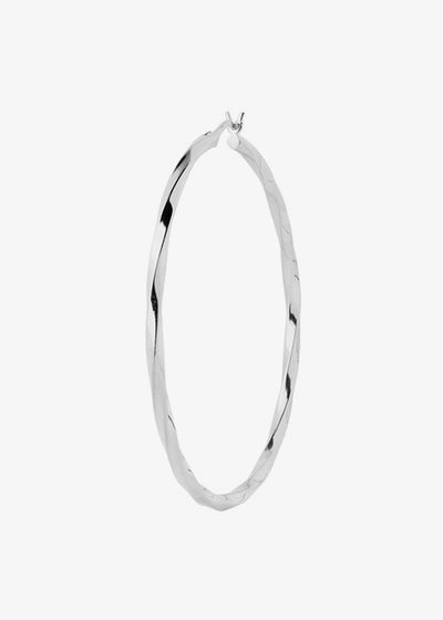 Francisca Hoop Large Earrings Silver
