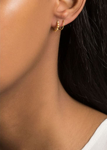 Klaxon Twirl Earrings Left Gold