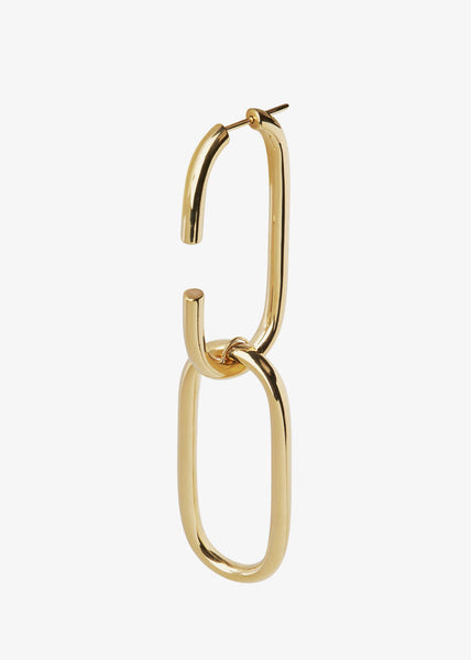 Oval Link Earrings Gold
