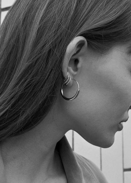 Serendipity Hoop Earrings Silver