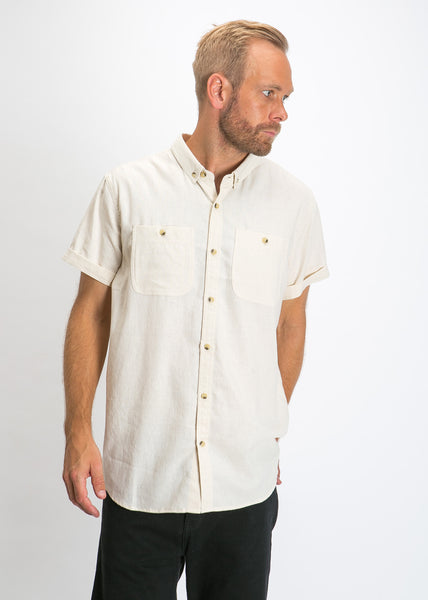 Men At Work Linen Shirt Natural