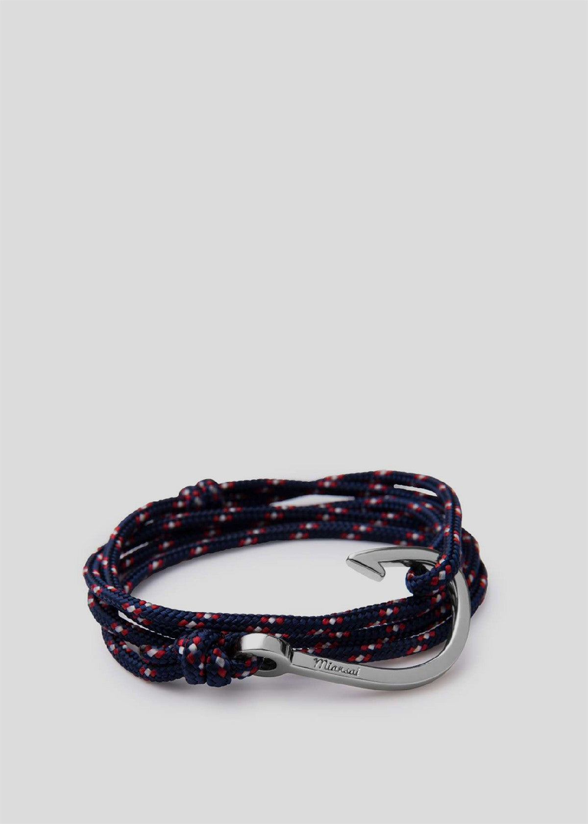 Hook on Rope Bracelet Silver/Navy