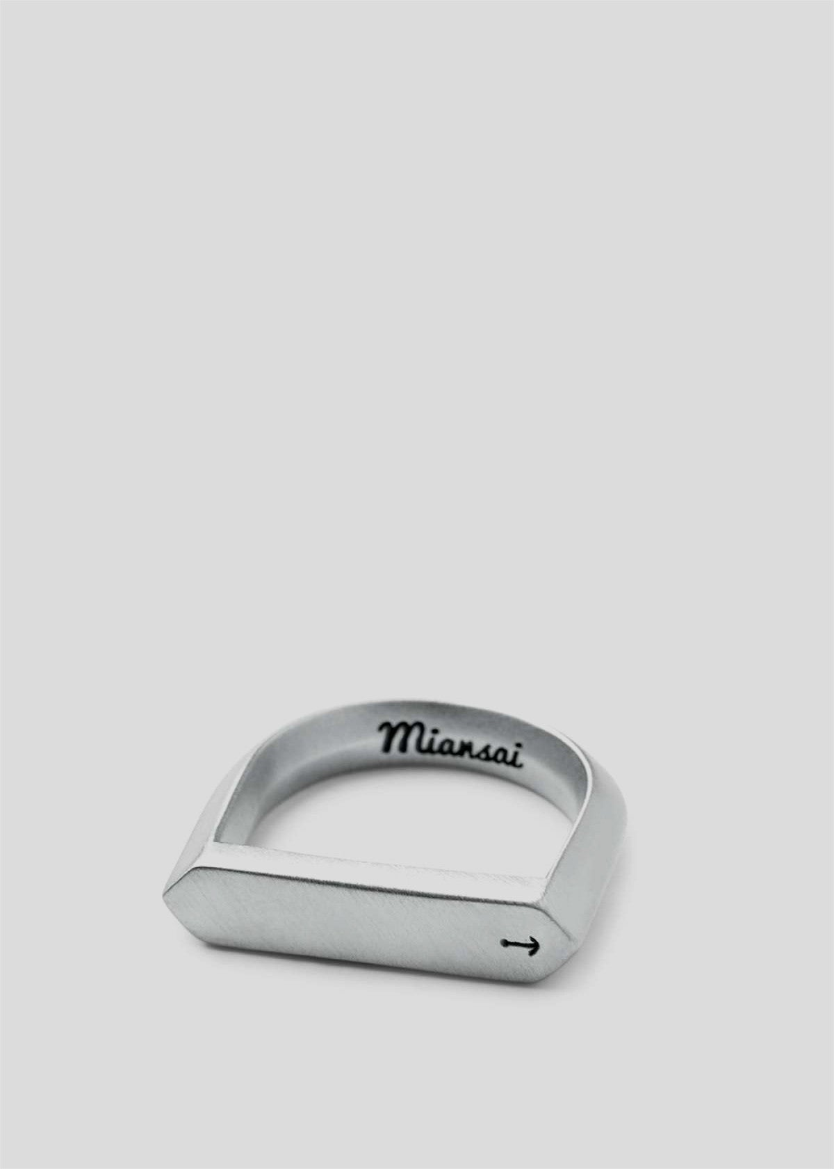 Flat Top Ring Brushed Sterlin Silver