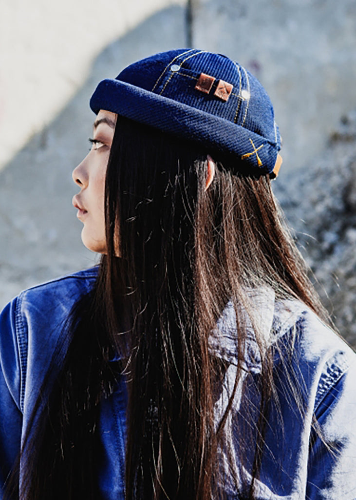 Miki Workwear Hat Indigo