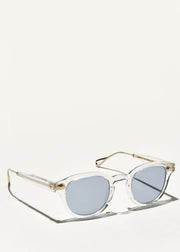 Lemtosh TT Sunglasses Crystal/Gold Blue Lens