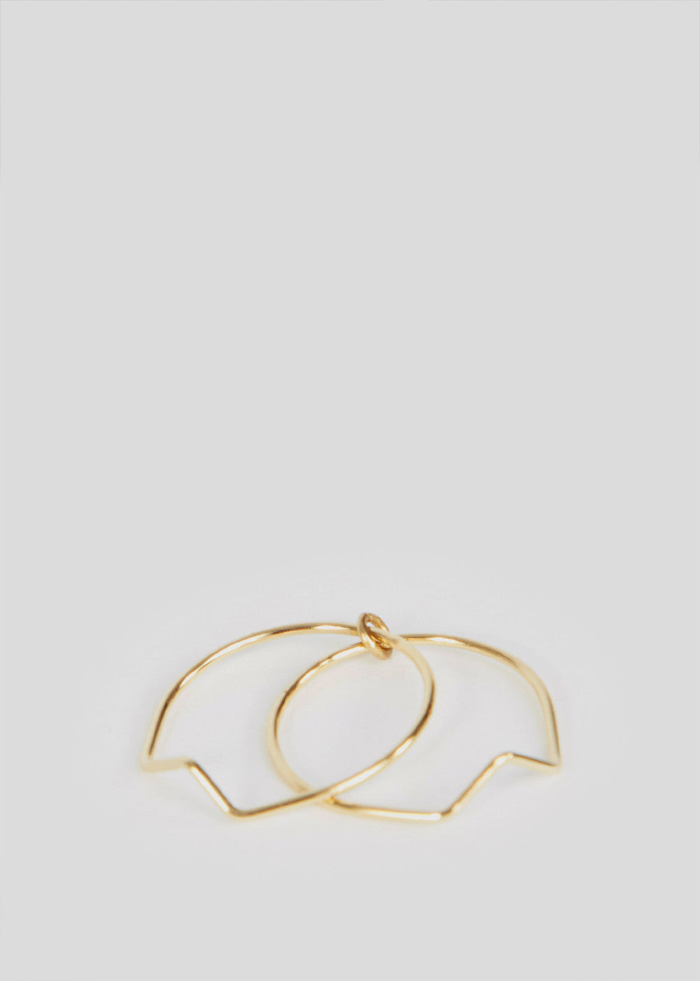 Arrow Ring 3 Gold Trois Petits Points Womens Jewellery Ring- someplace