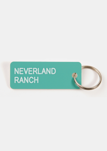 Neverland Ranch Key Tag Aqua/White