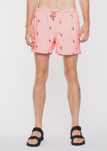 Toucan Swim Shorts Pink