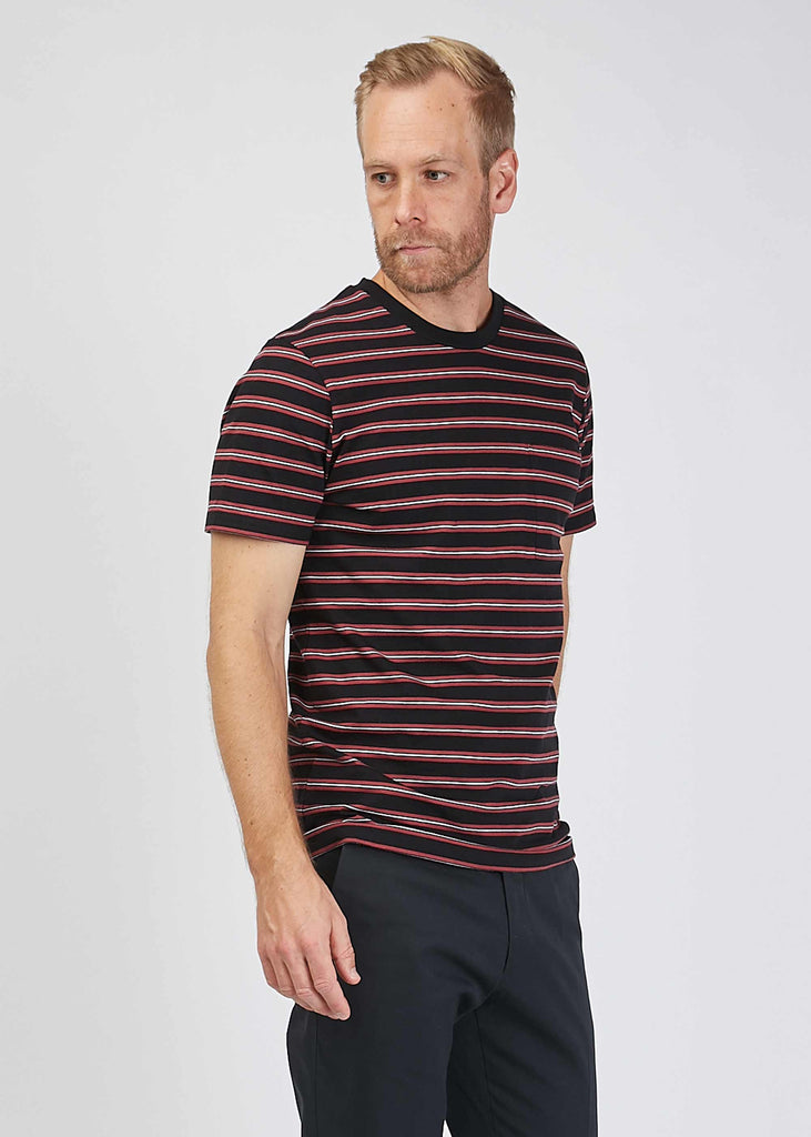 Barry Stripe Tee Black