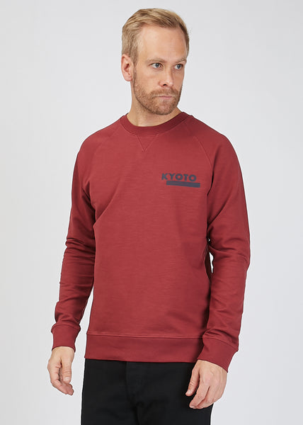 Canyon Print Sweat Shirt Red Mel