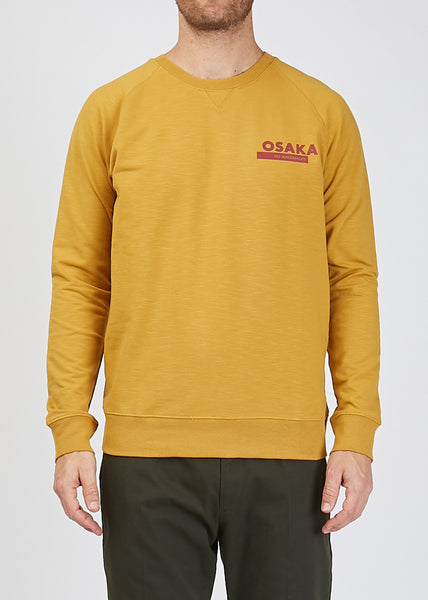 Canyon Print Sweat Shirt Mustard