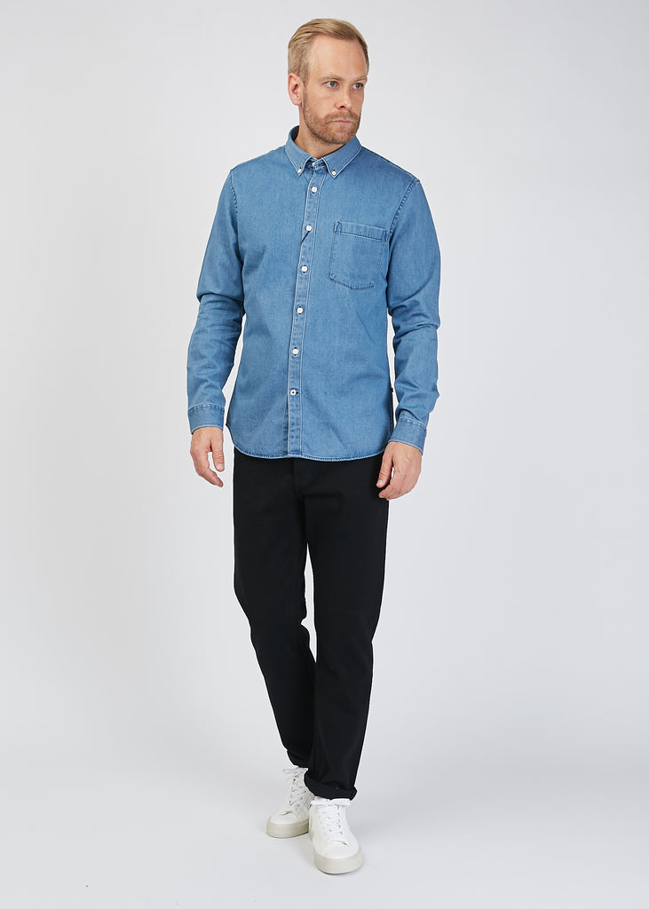 Falk Denim Shirt Medium Wash