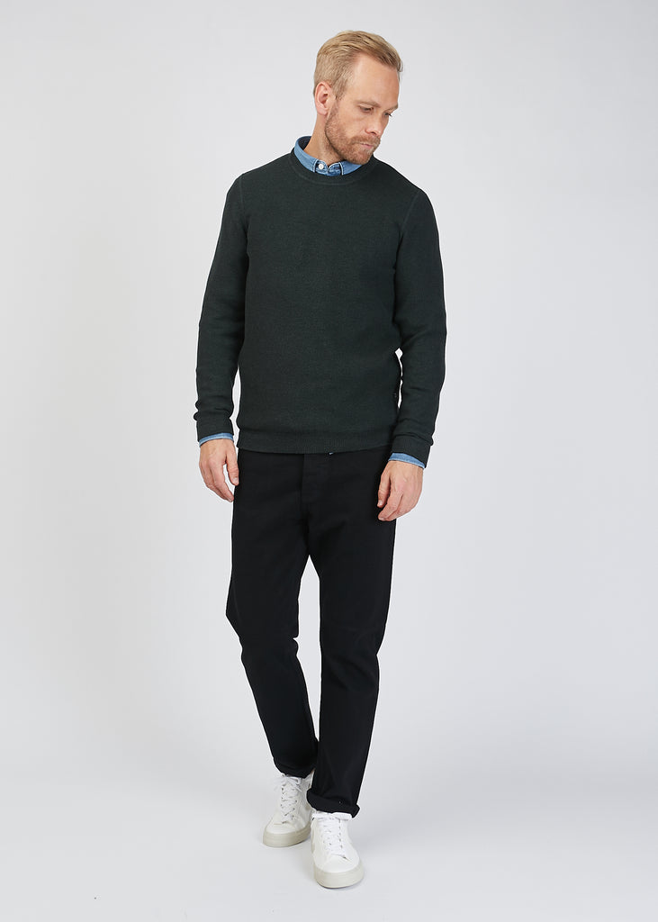 Hubert Crew Knit Dark Green