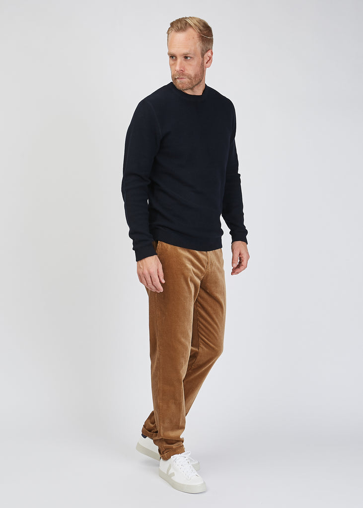 Hubert Crew Neck Knit Navy Blue