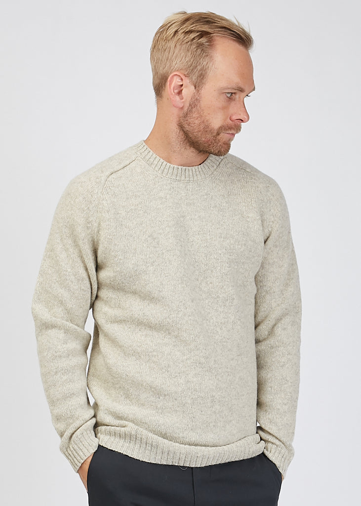 Nathan Crew Neck Knit Light Grey Mel