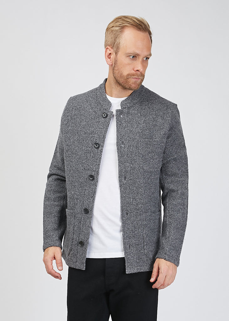Oswald Boiled Wool Jacket Grey Mel