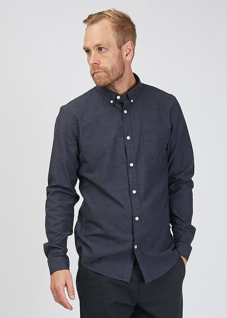 Sixten Flannel Shirt Deep Blue