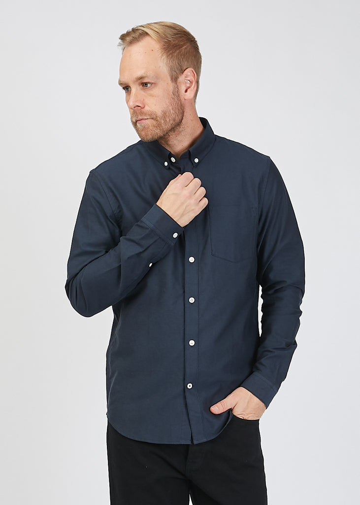 Sixten L/S Oxford Shirt Navy